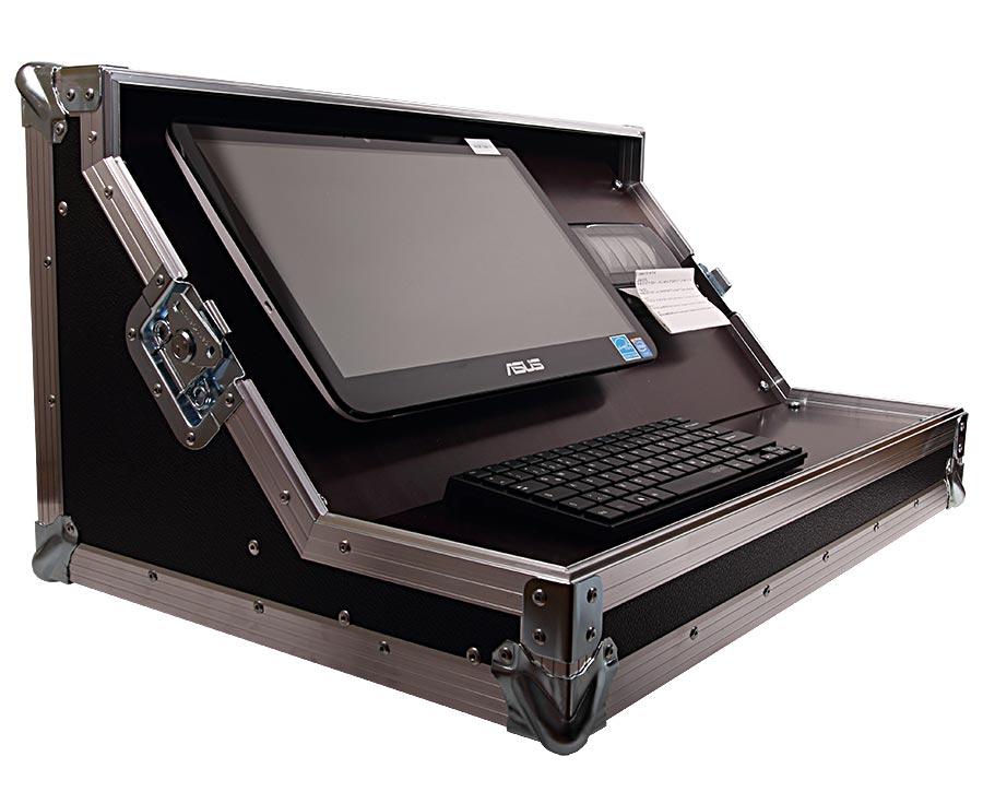 Computer Haubencase Offen