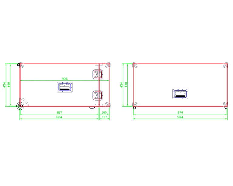 Flightcase Koffer Trolley PAAR395 Modell