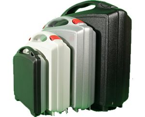 Kunststoffkoffer, VSL Österreich, mit angepasstem Innenleben