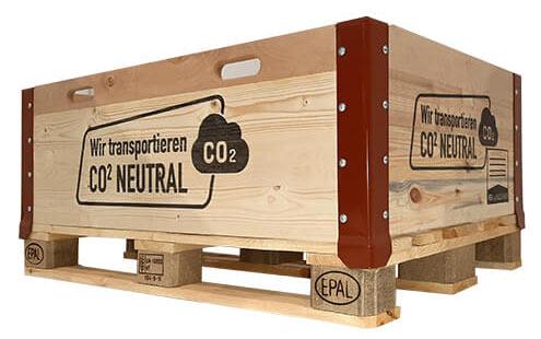 Bedruckte Holz Transportkiste