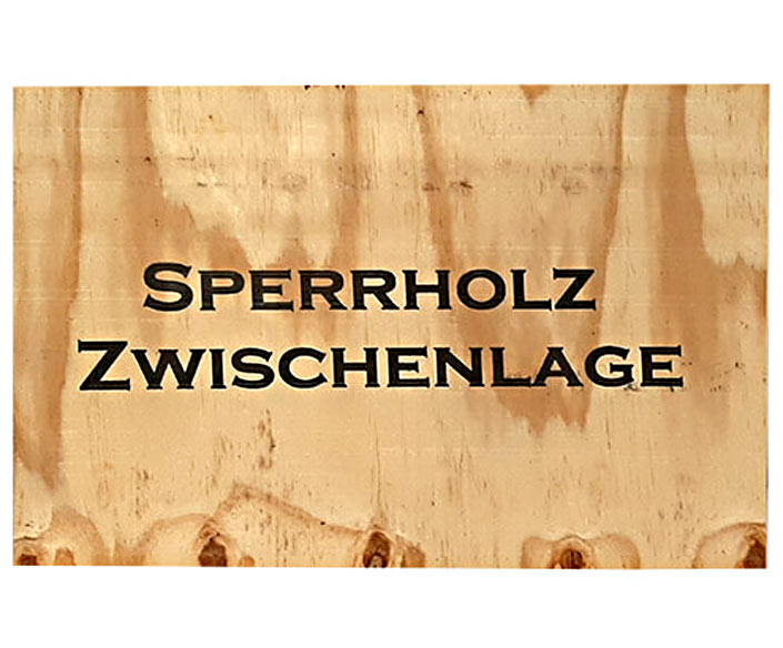 Bedruckung Sperrholz Zwischenlage für Paletten